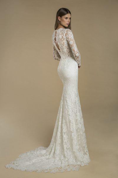 Long Sleeve Lace Sheath Wedding Dress by Love by Pnina Tornai - Image 2