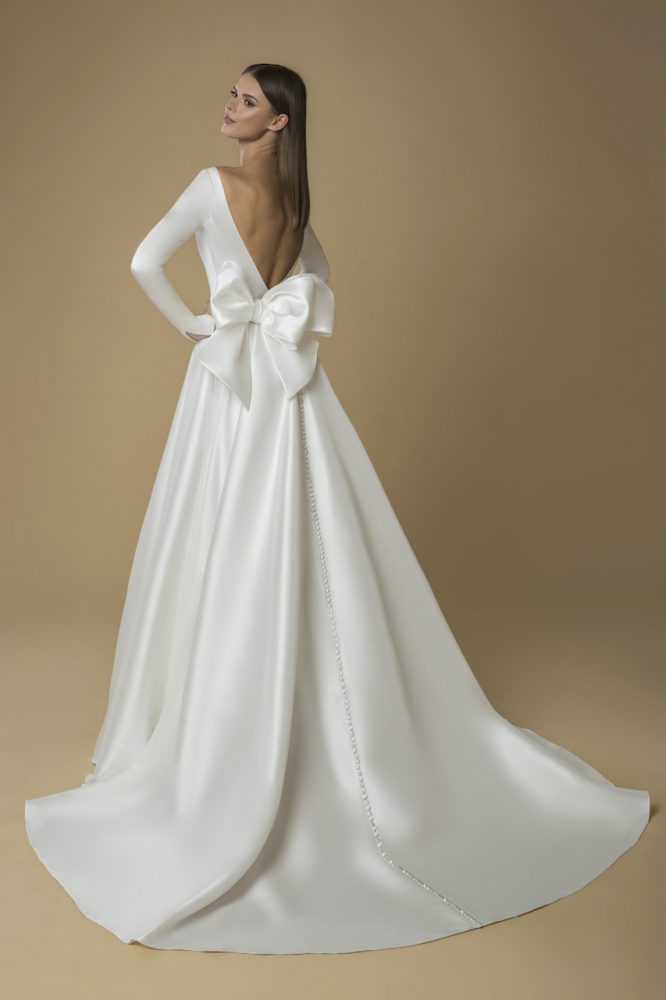 Long Sleeved A-line Wedding Dress by Love by Pnina Tornai - Image 2