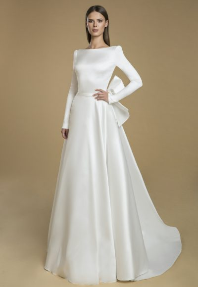 Long Sleeved A-line Wedding Dress by Love by Pnina Tornai