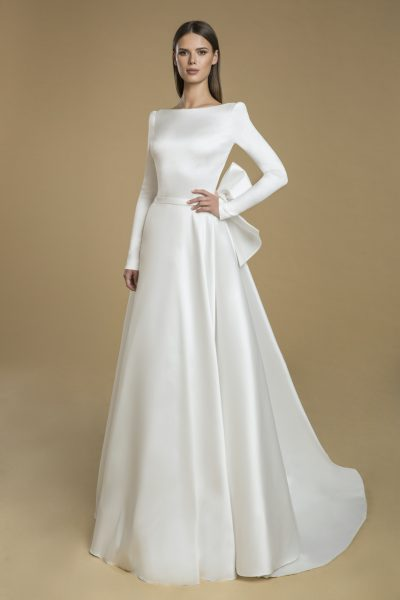 Long Sleeved A-line Wedding Dress by Love by Pnina Tornai - Image 1