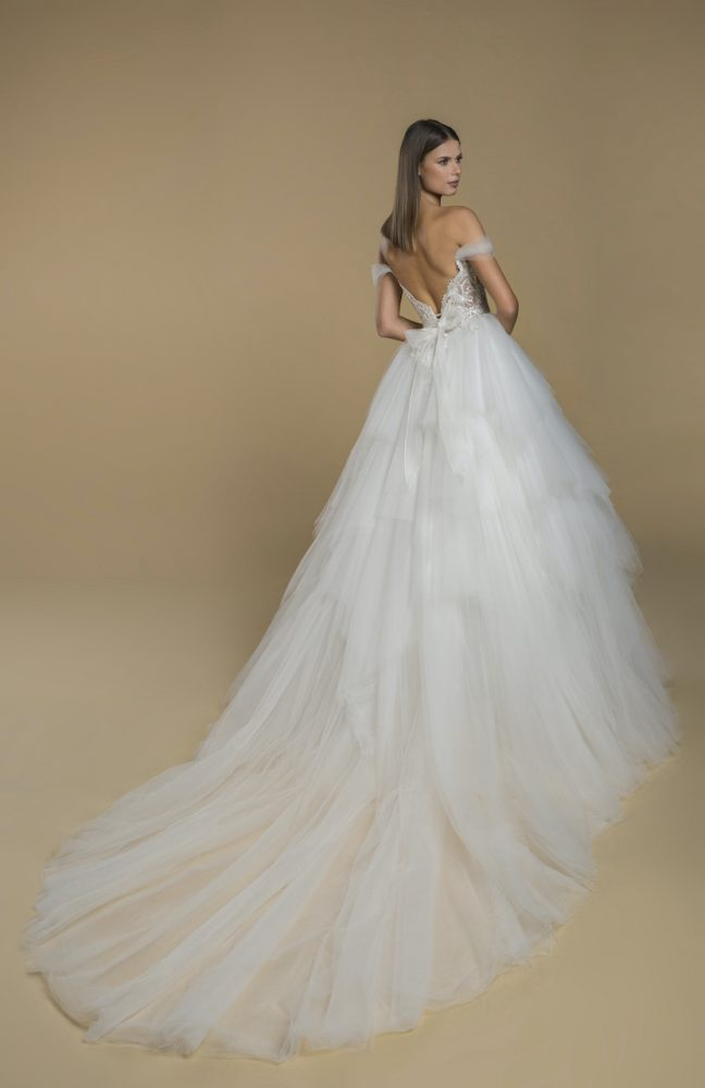 Off The Shoulder Ball Gown Tulle Wedding Dress by Love by Pnina Tornai - Image 2