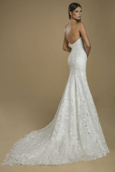 Strapless Fit And Flare Lace Wedding Dress by Love by Pnina Tornai - Image 2