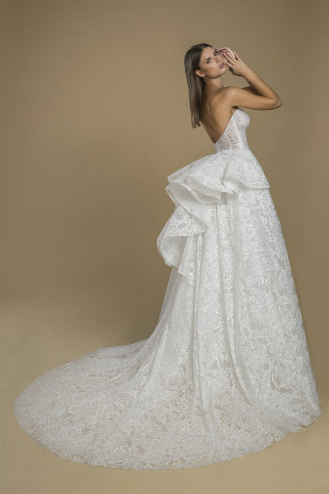 Strapless Lace Ball Gown Wedding Dress by Love by Pnina Tornai - Image 2