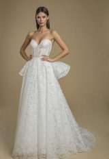 Strapless Lace Ball Gown Wedding Dress by Love by Pnina Tornai - Image 1