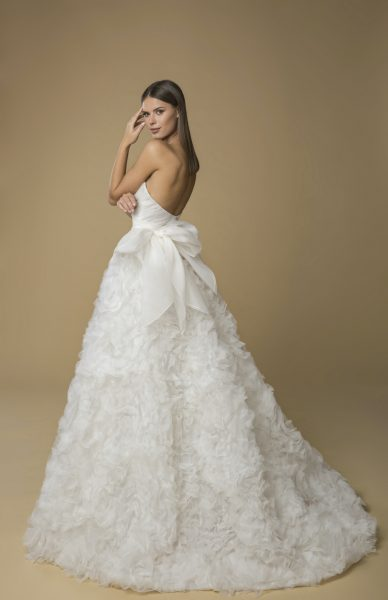 Strapless Organza Ruffled Ball Gown Wedding Dress by Love by Pnina Tornai - Image 2