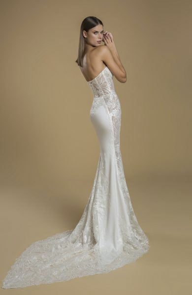 Strapless Sheath Wedding Dress With Paneling by Love by Pnina Tornai - Image 2