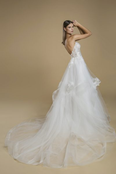 Strapless Sweetheart Neckline With Layered Tulle Skirt Wedding Dress by Love by Pnina Tornai - Image 2