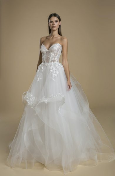 Strapless Sweetheart Neckline With Layered Tulle Skirt Wedding Dress by Love by Pnina Tornai - Image 1