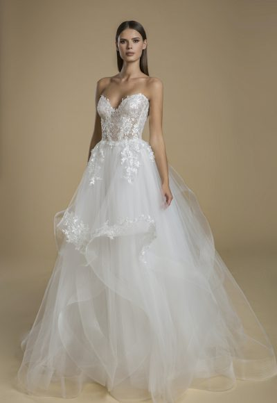 Strapless Sweetheart Neckline With Layered Tulle Skirt Wedding Dress by Love by Pnina Tornai