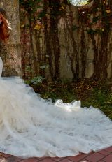 Sleeveless Sweetheart Neckline Fit And Flare Layered Skirt Wedding Dress by Eve of Milady - Image 2