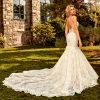 Spaghetti Strap Beaded Mermaid Wedding Dress by Eve of Milady - Image 2