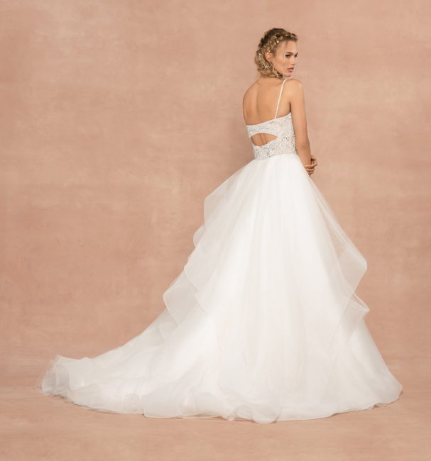 Spaghetti Strap Tulle Ball Gown Wedding Dress by Hayley Paige - Image 2