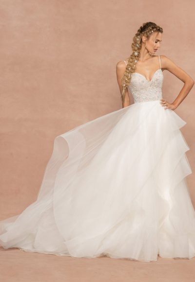 Spaghetti Strap Tulle Ball Gown Wedding Dress by Hayley Paige