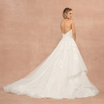 Strapless Sparkle Tulle Ball Gown Wedding Dress by Hayley Paige - Image 2