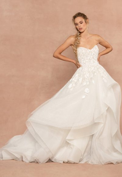 Strapless Sparkle Tulle Ball Gown Wedding Dress by Hayley Paige