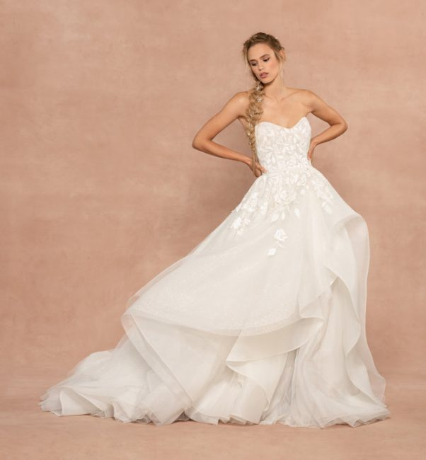 Strapless Sparkle Tulle Ball Gown Wedding Dress by Hayley Paige - Image 1