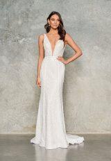 Sleeveless V Neck Beaded Wedding Dress by Jane Hill - Image 1