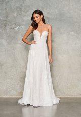 Strapless Beaded Sheath Wedding Dress by Jane Hill - Image 1