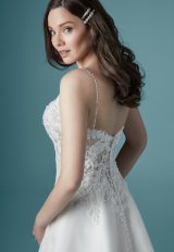 Spaghetti Strap V-neck A-line Wedding Dress by Maggie Sottero - Image 2