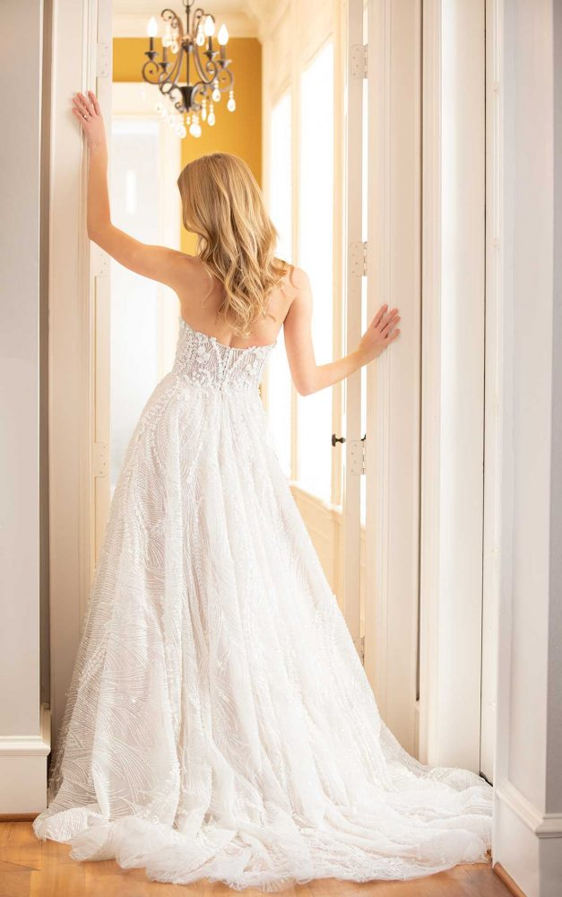 Strapless Sweetheart Neckline Beaded And Embroidered A-line Wedding Dress by Martina Liana Luxe - Image 2