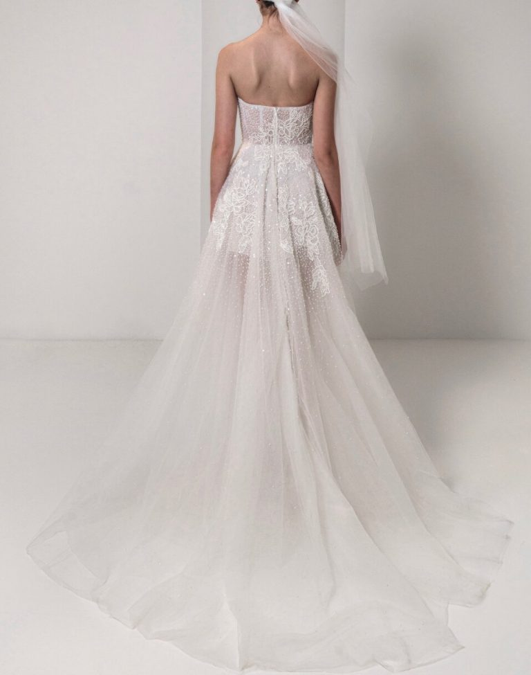 Strapless Sweetheart A-line Lace Wedding Dress by Reem Acra - Image 2