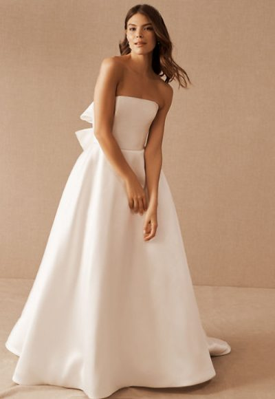 Strapless Ball Gown Simple Wedding Dress by Nouvelle Amsale