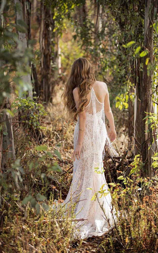 BOHO INSPIRED FIT-AND-FLARE WEDDING DRESS WITH FRINGE DETAILS by All Who Wander - Image 2