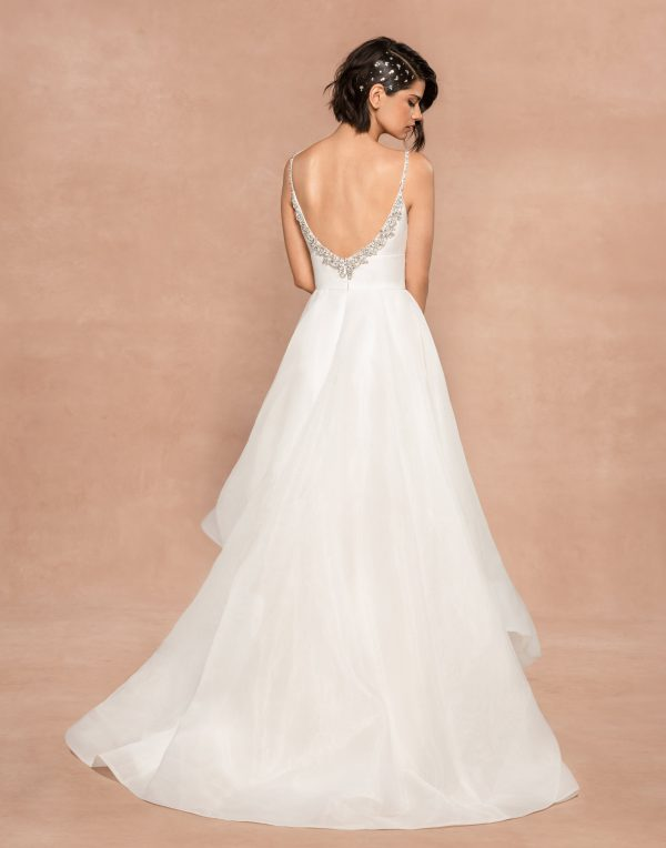 Spaghetti Strap Organza Ball Gown Wedding Dress by BLUSH by Hayley Paige - Image 2