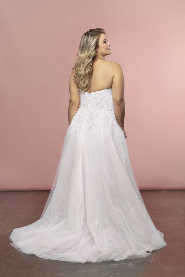 Strapless A-line Tulle Skirt Wedding Dress by BLUSH by Hayley Paige - Image 2