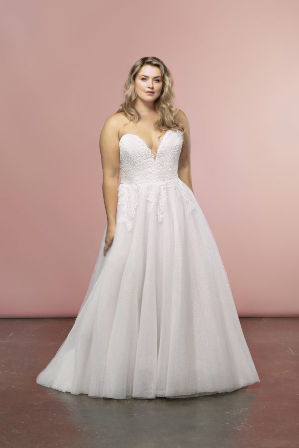 Strapless A-line Tulle Skirt Wedding Dress by BLUSH by Hayley Paige - Image 1