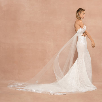 Strapless Lace Sweetheart Neckline Fit And Flare Wedding Dress by Hayley Paige - Image 2