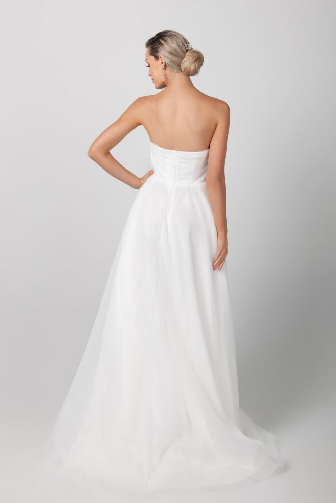 Strapless Hi-lo A-line Wedding Dress by Michelle Roth - Image 2