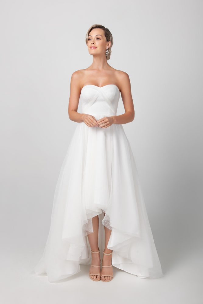 Strapless Hi-lo A-line Wedding Dress by Michelle Roth - Image 1