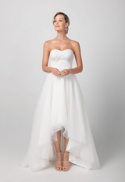 Strapless Hi-lo A-line Wedding Dress by Michelle Roth
