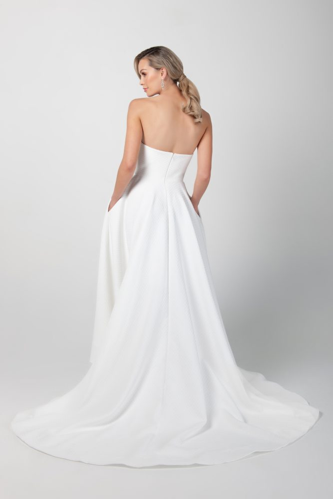 Strapless Hi-lo A-line Wedding Dress With Pockets by Michelle Roth - Image 2