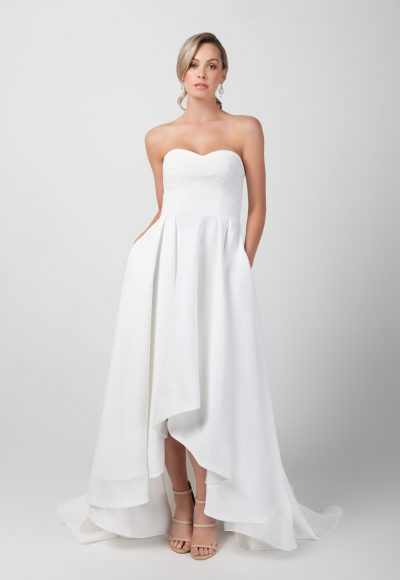 Strapless Hi-lo A-line Wedding Dress With Pockets by Michelle Roth