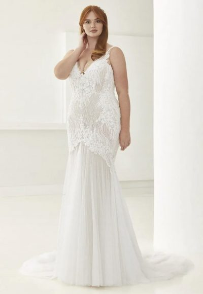 Mermaid Wedding Dress With V-neck by Pronovias