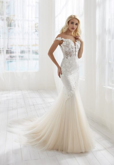 Mermaid Embroidered Wedding Dress by Randy Fenoli