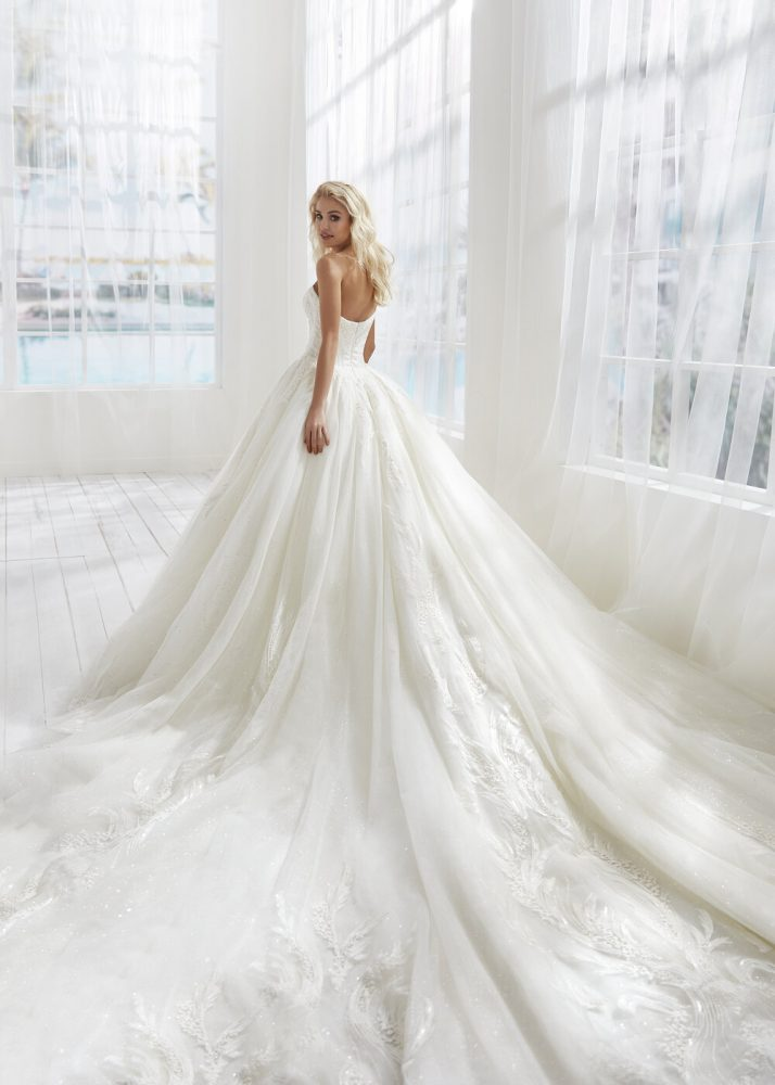 Strapless Ball Gown Tulle Wedding Dress by Randy Fenoli - Image 2