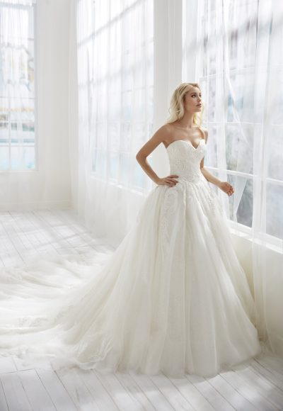 Strapless Ball Gown Tulle Wedding Dress by Randy Fenoli
