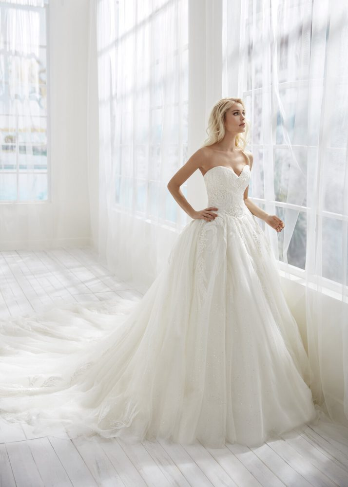 Strapless Ball Gown Tulle Wedding Dress by Randy Fenoli - Image 1