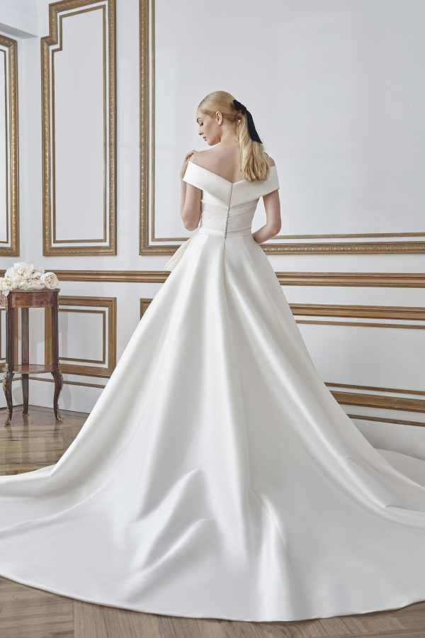 Off the Shoulder Ball Gown Wedding Dress by Sareh Nouri - Image 2