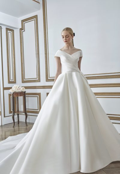 Off the Shoulder Ball Gown Wedding Dress by Sareh Nouri