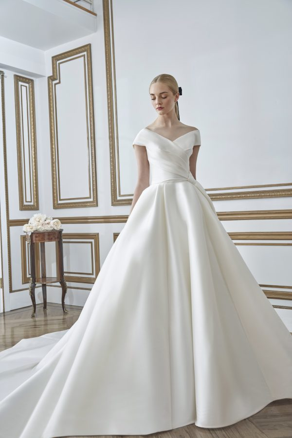 Off the Shoulder Ball Gown Wedding Dress by Sareh Nouri - Image 1