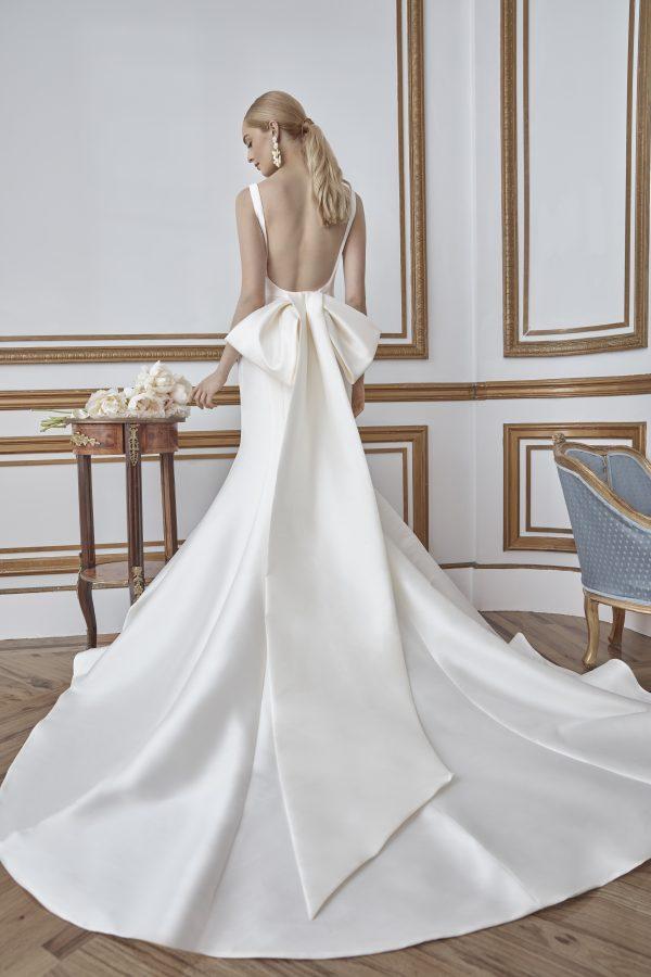 Simple Sleeveless Fit And Flare Mikado Wedding Dress by Sareh Nouri - Image 2