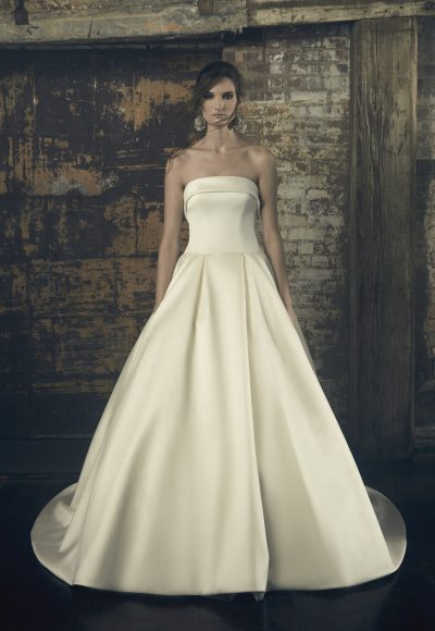 Strapless Ball Gown Wedding Dress by Sareh Nouri