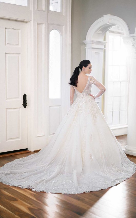 Silver Bead-encrusted Princess Ball Gown by Martina Liana - Image 2