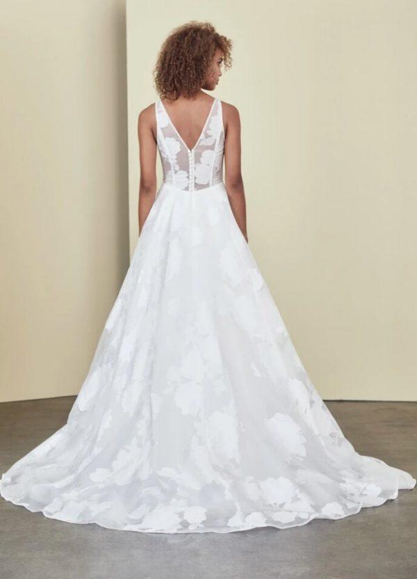 Sleeveless V-neck A-line Wedding Dress by Nouvelle Amsale - Image 2