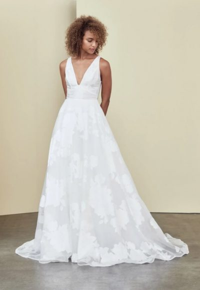 Sleeveless V-neck A-line Wedding Dress by Nouvelle Amsale