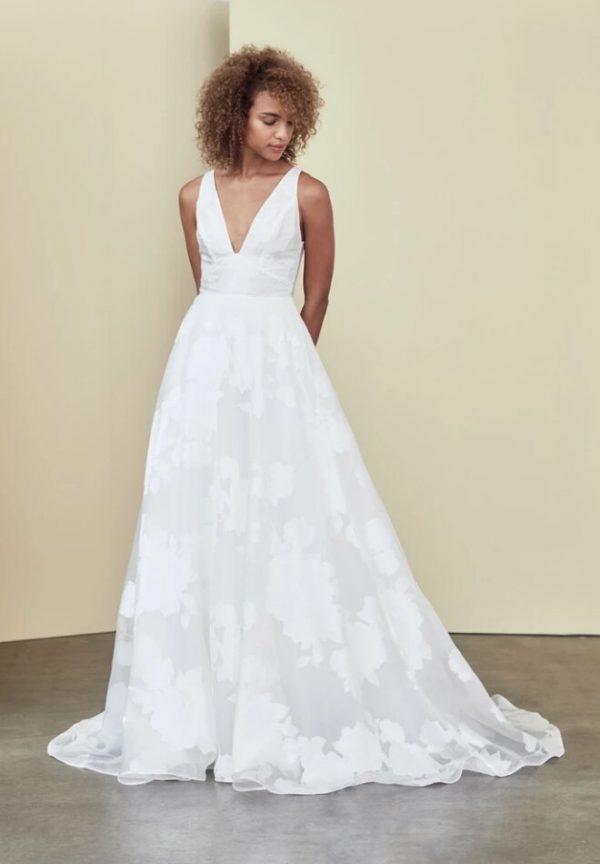 Sleeveless V-neck A-line Wedding Dress by Nouvelle Amsale - Image 1